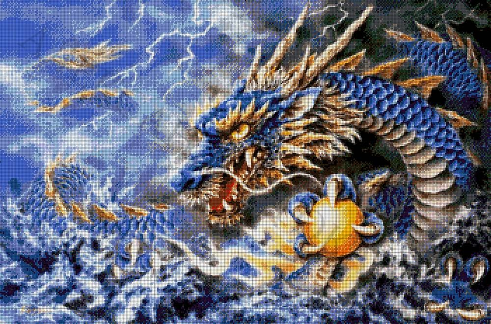 Схема дракона для вышивки бисером